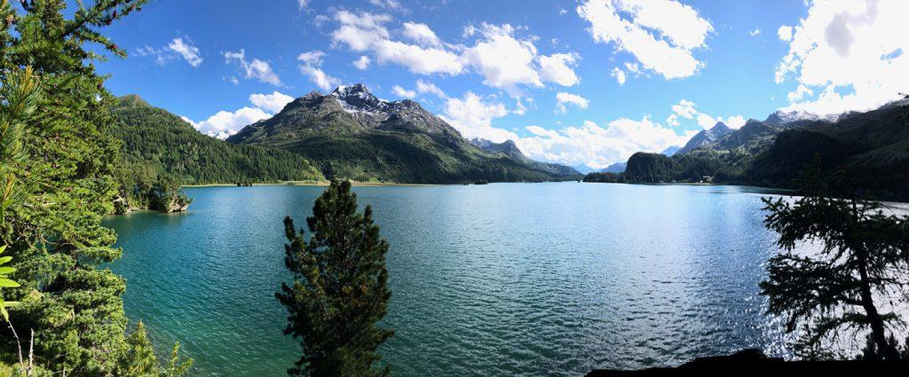 Auf der Chastè im Silser See, Engadin, Schweiz