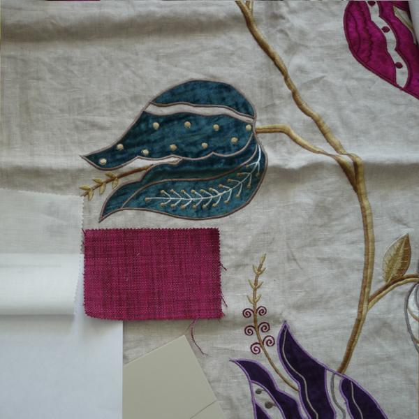Materialcollage - im Frühjahr Räume neu gestalten